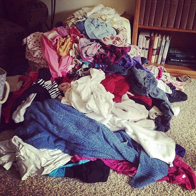 Put folded laundry away immediately — it's easier than refolding it.