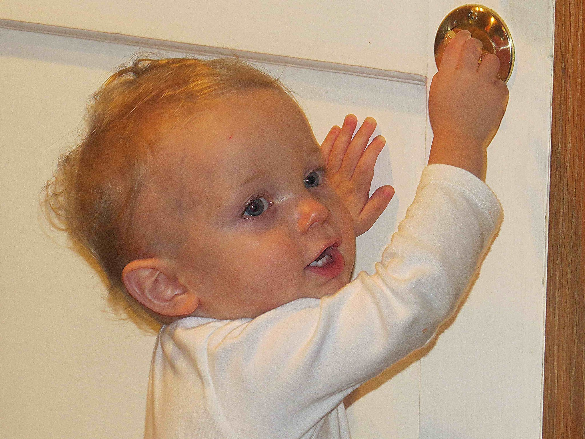 Locking the door is much easier than explaining what Mommy and Daddy are doing behind it.