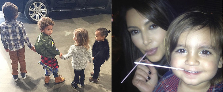 Kim Kardashian Snaps Cute Pictures of North West With Her Cousins