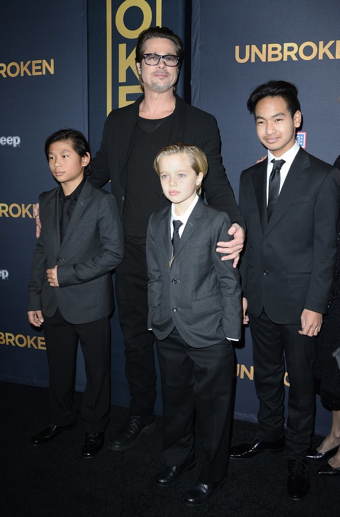 Angelina Jolie and Shiloh Jolie-Pitt Wearing Suits ...