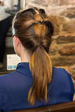 Looped Ponytail How-To