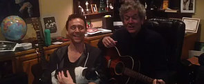 Swoon! It's Tom Hiddleston Singing a Christmas Song and Holding a Dog