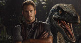 Chris Pratt Poses with Velociraptor in 'Jurassic World' Holiday Greeting