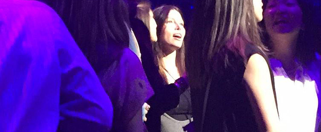 Jessica Biel Finally Shows Her Belly at Justin Timberlake's Concert