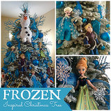 This Frozen-Inspired Christmas Tree Is an Elsa-Lover's Dream