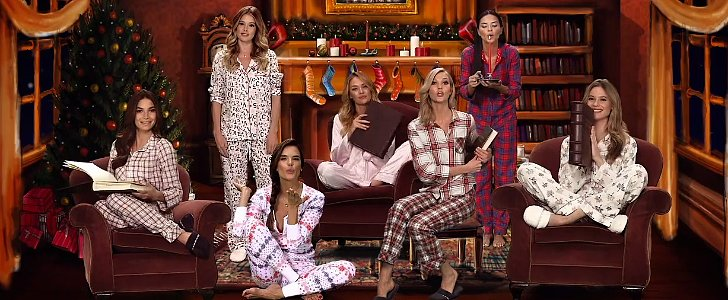 Victoria's Secret Angels Trade Sexy Lingerie For Cozy Pajamas