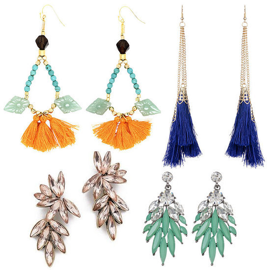 Beautiful, Bright Party Earrings to Buy Online For Under $50