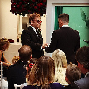 Elton John and David Furnish Wedding Pictures