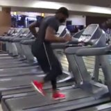 Man Running Across Treadmills Video
