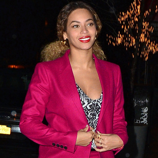Beyonce Wears Pink as She Heads Out With Jay Z in NYC