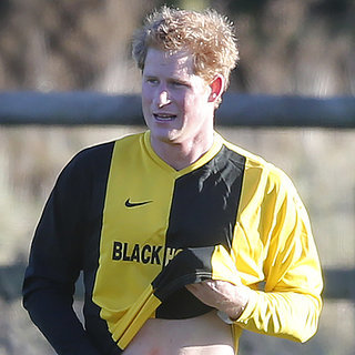 Prince Harry Playing Soccer on Christmas Eve 2014