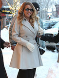 Mariah Carey's gown and heels in Aspen to kick off Christmas