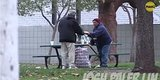 Prankster Gives Homeless Man $100, Secretly Follows Him And Learns He Buys Food For Others