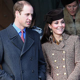Prince William and Pregnant Kate Middleton At Sandringham