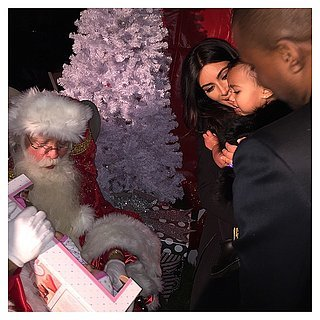 North West and Kim Kardashian With Santa on Christmas 2014