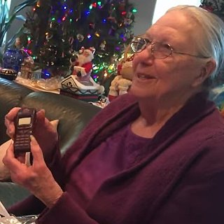 Grandma Gets Chocolate iPhone