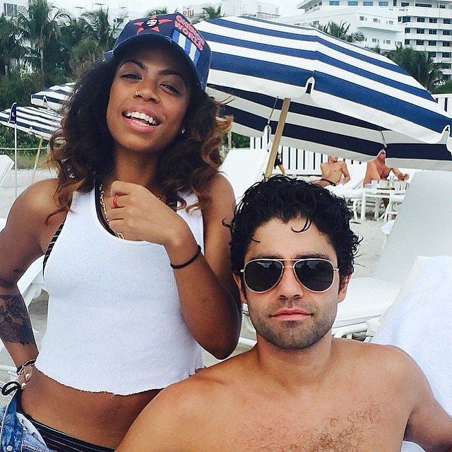 Adrian Grenier celebrated New Year's Eve at the beach.