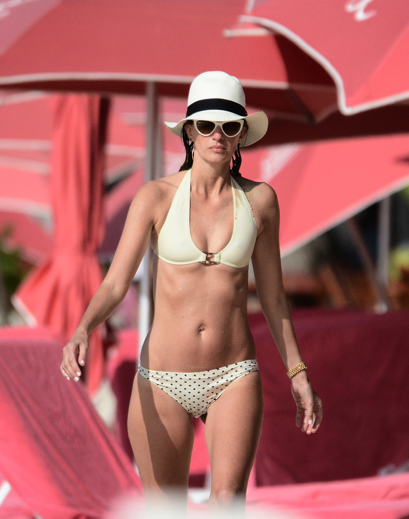 Mark Wahlberg's wife Rhea Durham hit the beach in Barbados in Jan. 2015.