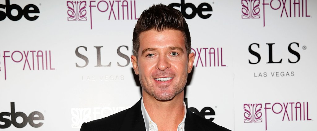 Robin Thicke's Girlfriend Was Too Young to Get Into a Club on NYE