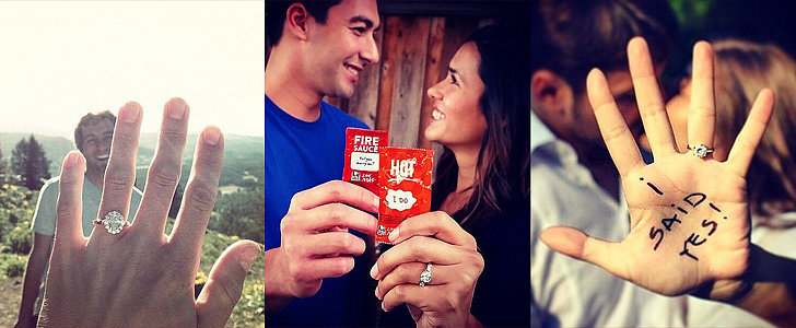 POPSUGAR Shout Out: See How These Real Couples Announced Their Engagement to the World