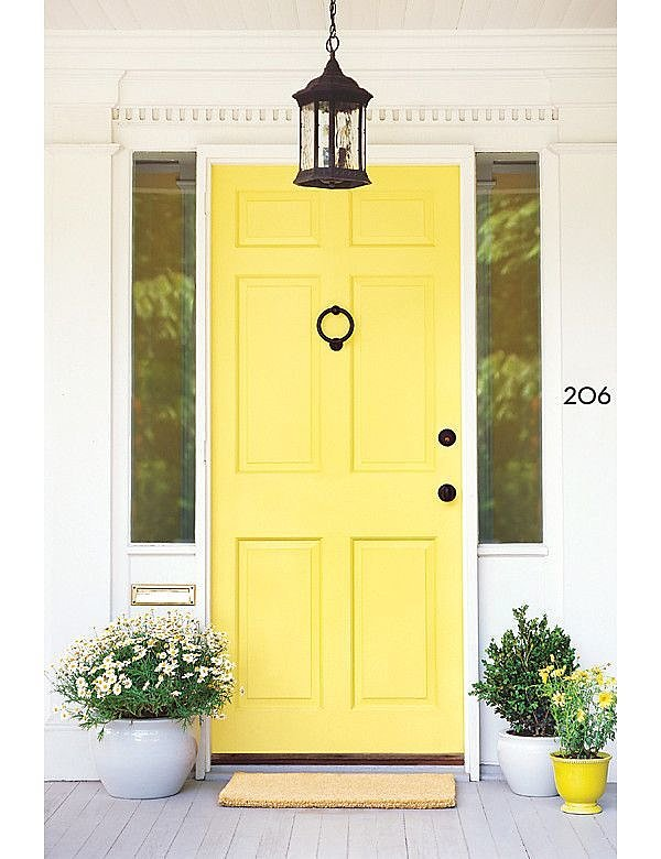 Canary Yellow Front-Doors
