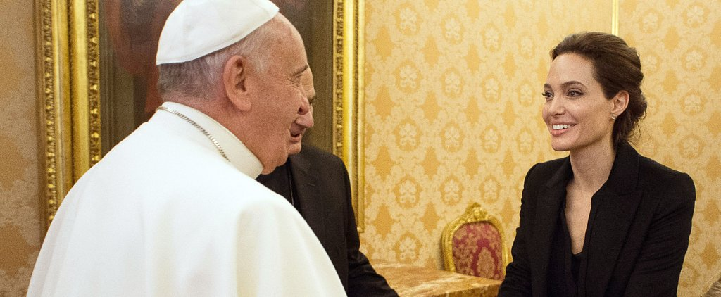 Angelina Jolie Meets With the Pope After Screening Unbroken at the Vatican