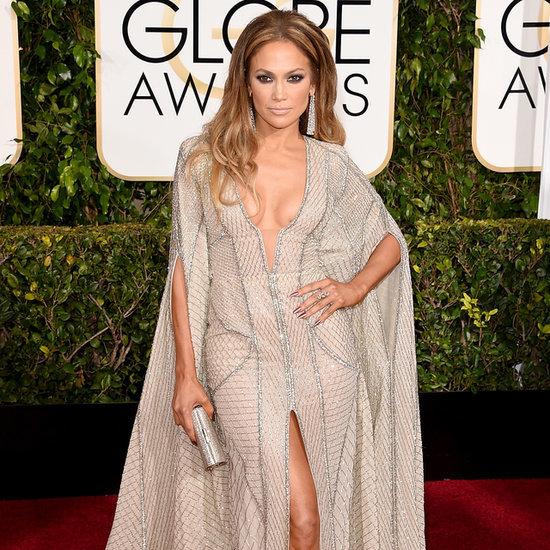 Jennifer Lopez in Sexy Zuhair Murad at 2015 Golden Globes