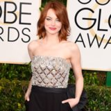 Emma Stone in Lanvin Jumpsuit at 2015 Golden Globes