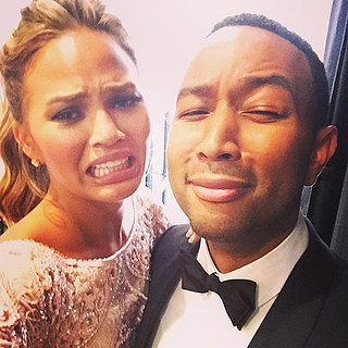 Chrissy Teigen Golden Globes Cry Face GIF and Pictures
