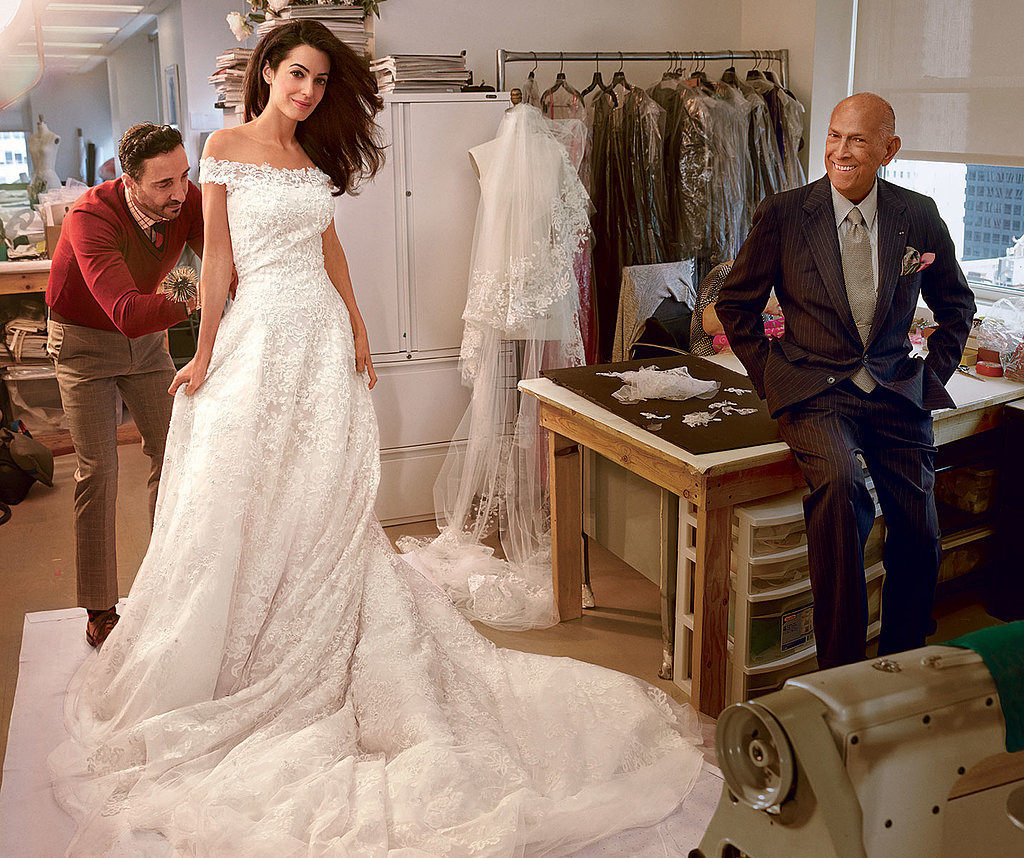 Amal Alamuddin Stunned in Oscar de la Renta on Her Wedding Day
