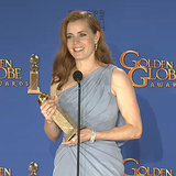 Amy Adams's Golden Globes Press Room Interview 2015