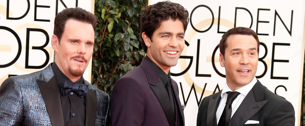 The Entourage Cast Shot Scenes For the Movie at the Golden Globes