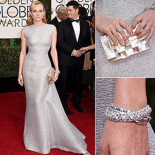Diane Kruger in Emilia Wickstead at the 2015 Golden Globes