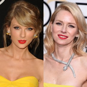 Taylor Swift Naomi Watts at the Golden Globes 2015