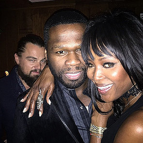 Leonardo DiCaprio Photobombs 50 Cent and Naomi Campbell