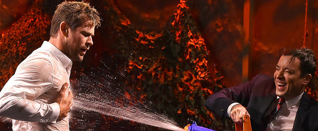 Chris Hemsworth and Jimmy Fallon's Water War Is Both Hilarious and Hot