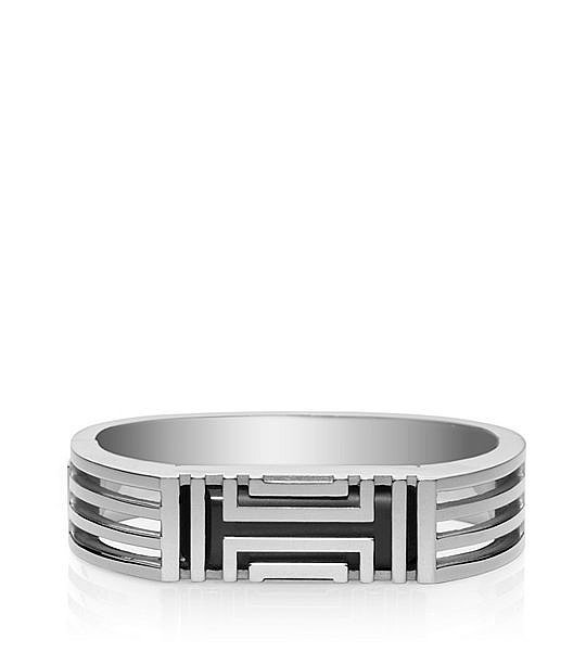 Tory Burch For Fitbit Metal Hinged Bracelet in Silver ($195)