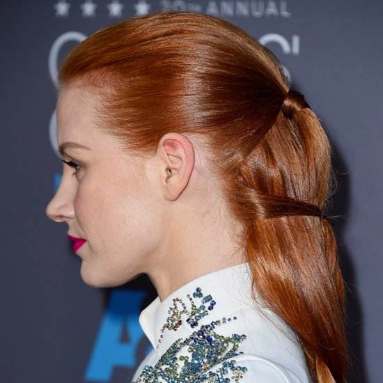 Jessica Chastain Braid Critics' Choice Awards 2015