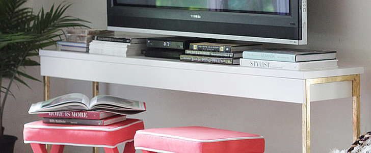 Turn an Ikea Desk Into a Glamorous TV Console