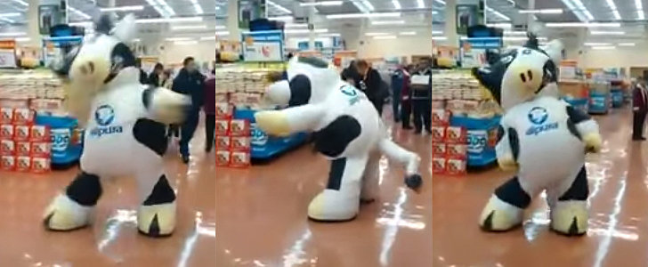 This Magnificent Dancing Cow Mascot Has Better Moves Than All of Us