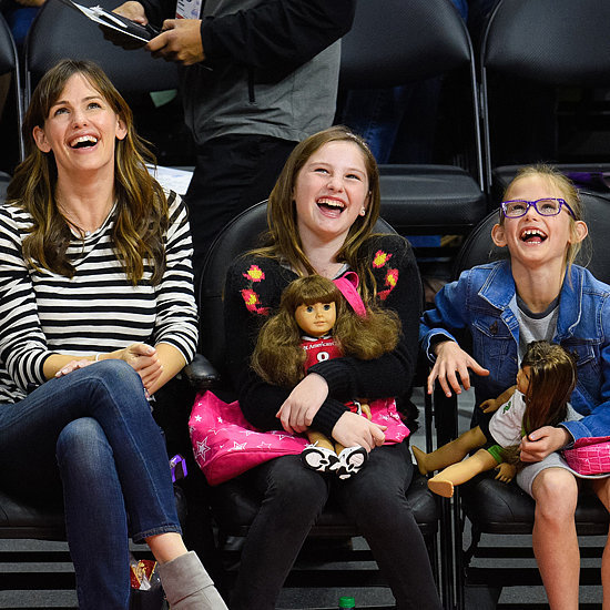 Jennifer Garner and Violet Affleck at a Clippers Game in LA