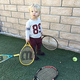 So Cute! Jessica Simpson's Son Tries His Hand at Tennis