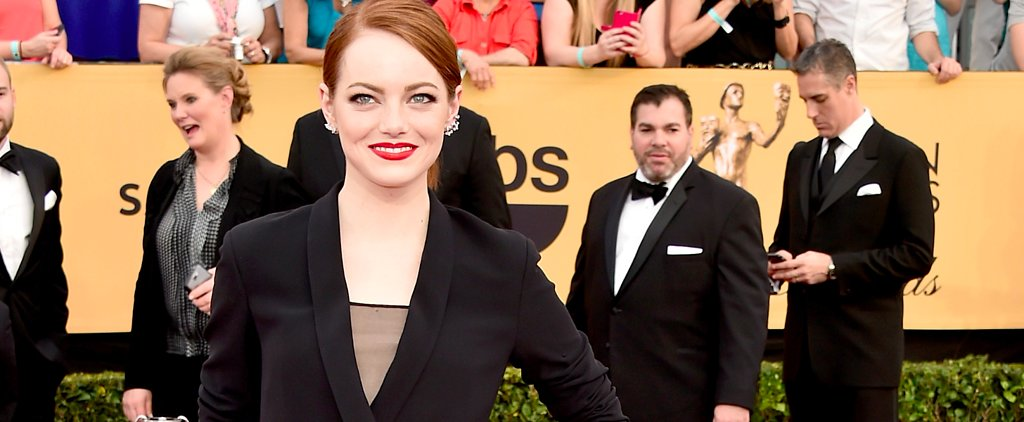 Poll: Emma Stone Wears Yet Another Menswear-Inspired Look at The SAG Awards
