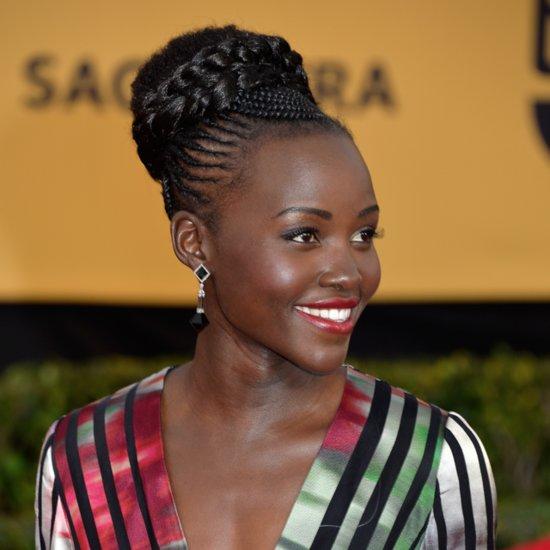 Lupita Nyong'o Hair and Makeup at the SAG Awards 2015
