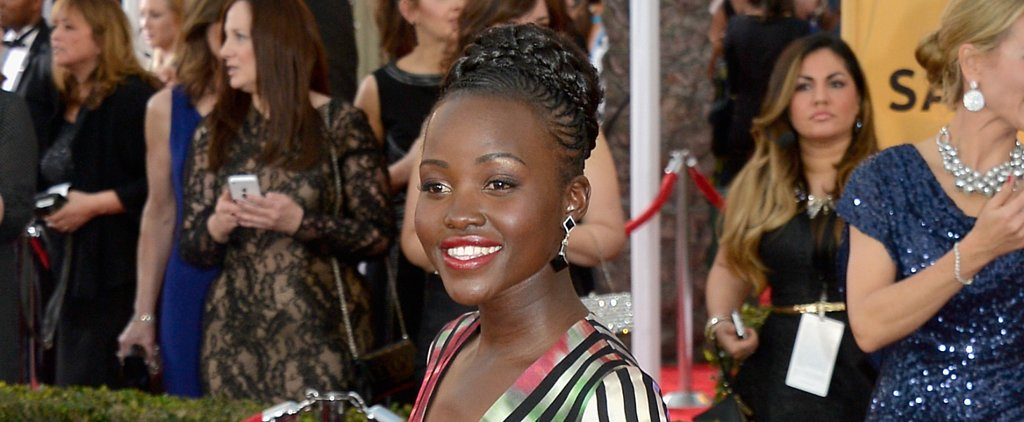 Lupita Nyong'o Rocks a Crown of Cornrows at the SAG Awards