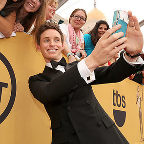 Eddie Redmayne GIF and Pictures at 2015 SAG Awards