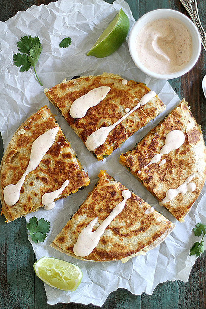 Black-Bean Butternut-Squash Quesadilla