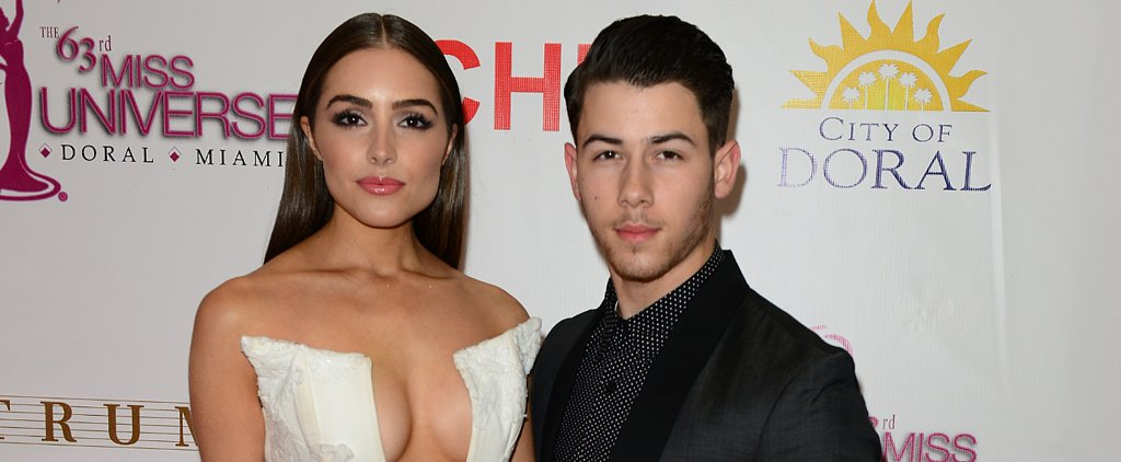 Nick Jonas's Girlfriend Showed Major Cleavage at Miss Universe