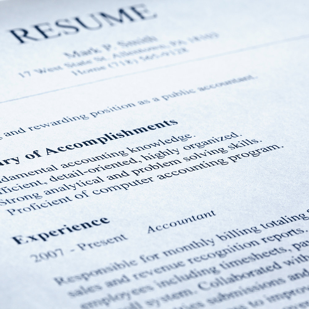 paste resume job application