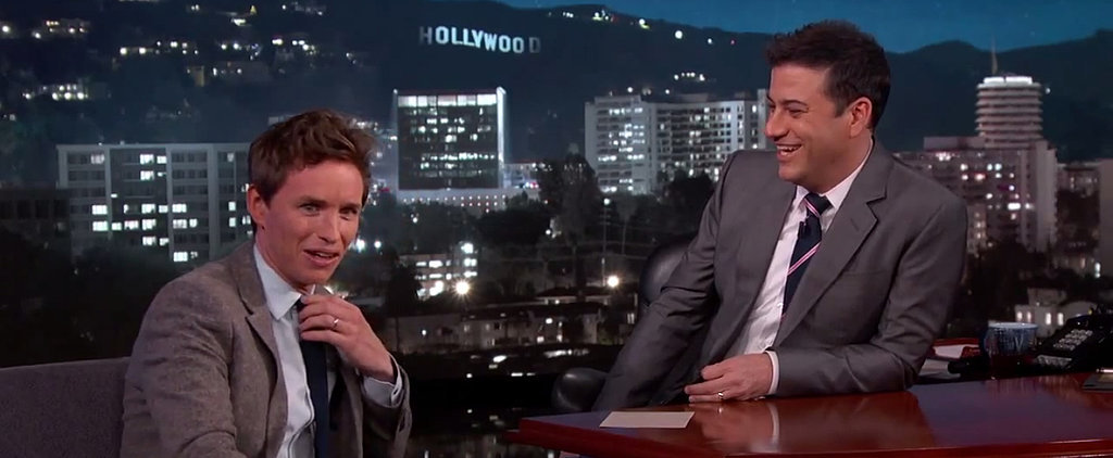Eddie Redmayne Couldn't Help but Stalk Jennifer Aniston at the SAG Awards